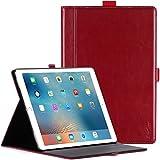 """ProCase Custodia per iPad Pro 12.9""""(2017/2015) -Custodia Premium Folio per Apple iPad Pro 12.9 pollici (entrambi i modelli 2017 e 2015),con Angoli di Visuale Multipli e Funzione SleepWake -Vino Rosso"""