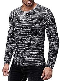 Amazon.es  pullover hombre - Camisetas de manga larga   Camisetas ... 7b1957e51bc66