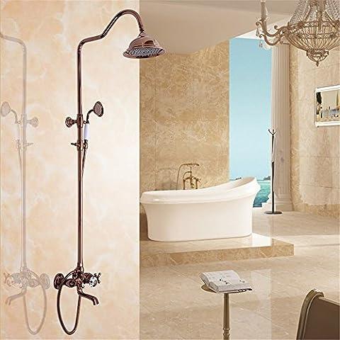 CAC Retrò il bagno completo di doccia, kit bagno montato a parete kit doccia,home bagno, decorazione, semplicità C78