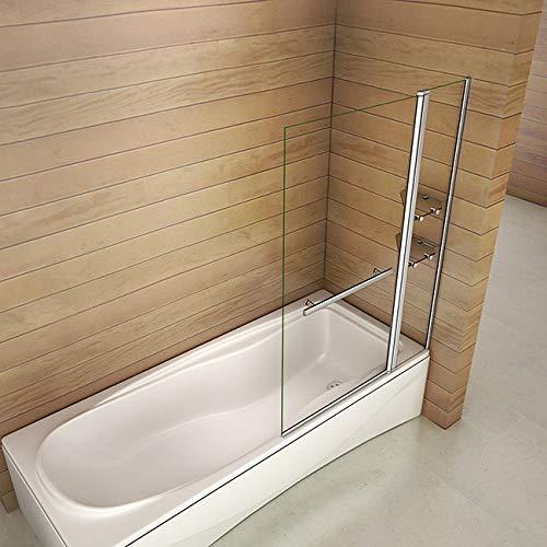 519b o26XWL - Bañera 2 piezas Mampara pantalla de ducha plegable vuelta 180 ° 100x140cm