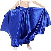 Dance Fairy Danza del Vientre Satén Faldas Largas Vestidos de Mujer,Azul Real