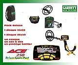 Garrett Ace 250Metal Detector, Sport, senza dischi (2dischi in diverse misure nella confezione)