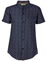 Super Young Shirt for Boys - Navy Blue Shirts - Printd Shrit - Cotton Material - Stylish Shirt for Boys - with Front Pocket