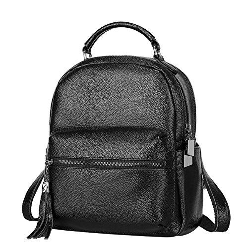 E-Girl Q0831 Damen Leder Handtaschen Satchel Tote Taschen Schultertaschen Schwarz