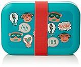 Kipling Lunchbox Kids Organizer borsa, 19 cm, 1.25 liters, Multicolore (L Bl Fun Shapes)