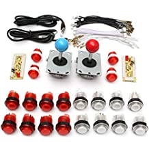 Rishil World DIY Parts USB Encoder Joystick Clear Buttons Kit For Acarde Game Controller Console