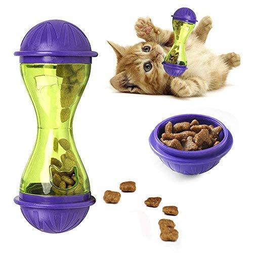 GCSEY Cat Treat Ball Interaktives Katzenspielzeug Futterspender IQ Treat Ball Snack Für Katze (Lila) -