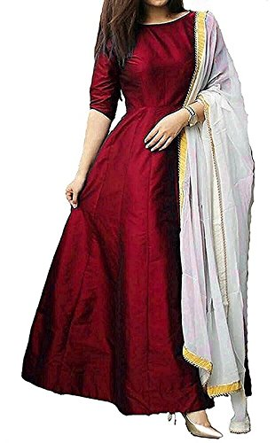 Fragrance Trendz Tapeta Silk Lehenga Choli (204 Maroon 4_Red_Free Size)