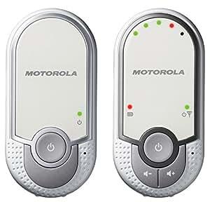 Motorola MBP 11 - Baby monitor audio digitale con modo eco, bianco/grigio