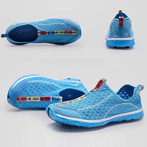 Zhhlaixing Lightweight Quick-dry Mesh Walking Sandals Beach Pool Non-slip Shoes Women Men for Indoor Outdoor Sky Blue