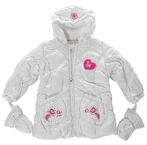 Pampolina Winterjacke Winter Jacke Steppjacke mit Kapuze Weiß 74