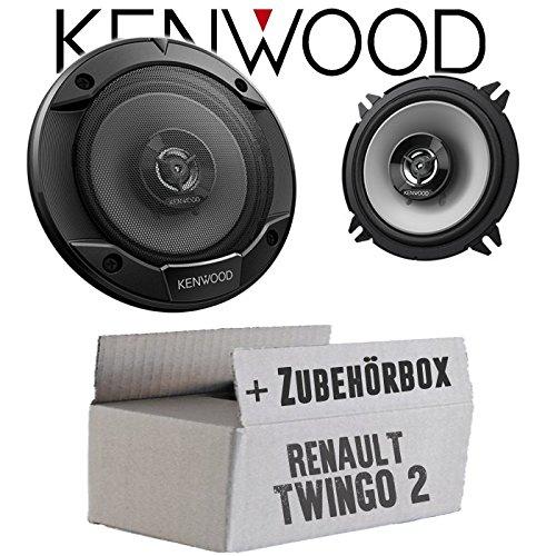 Lautsprecher Boxen Kenwood KFC-S1366-13cm 2-Wege Koax Auto Einbauzubehör - Einbauset für Renault Twingo 2 Front Heck - JUST SOUND best choice for caraudio