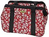 JanetBasket Rojo Floral Bolsa éco-18 x