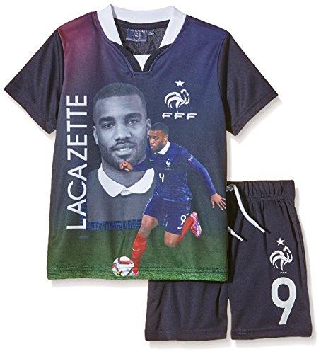 FFF EP1002 Lacazette conjunto de piezas de 2-Camiseta de manga corta para niño, color azul (talla 6 años 6Y):