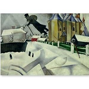 ??New York - The Museum of Modern Art - Au-dessus de Vitebsk - Carte postale 10,5 x 15 cm