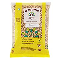 Arya Farm Certified Organic Protein Soya Bean without Chemicals and Pesticides, 1kg