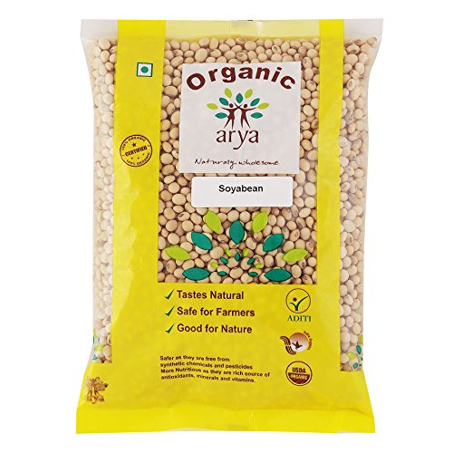 Arya Farm Certified Organic Soyabean Without Chemicals and Pesticides, 1 Kg (Soy Bean)