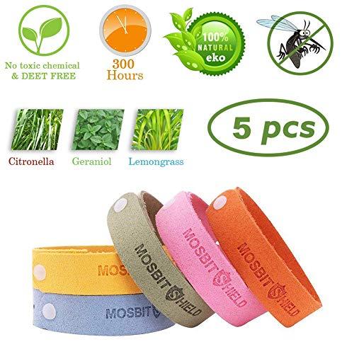 Sunshine smile moskito Armband Kinder,mückenschutz Armband,Mückenarmband,Repellent Bracelet,Insektenschutz-Armband,Anti mücken Armband,Repellent Wristband (5-Pack)