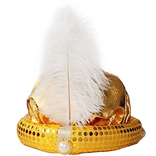 Kostüm Kinder Sultan - BESTOYARD Kostüm Turban Sultan Kopfbedeckung (Gold)