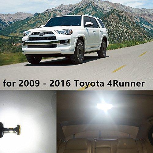 Preisvergleich Produktbild WLJH 16 stücke Weiß LED Innenbeleuchtung Auto LED Paket Kit + Kennzeichenbeleuchtung für 2009-2016 4Runner