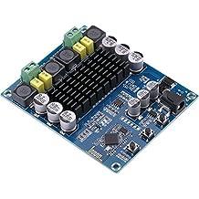 Digital Bluetooth Poder Amplificador Amperio Ampli Tablero, Yeeco Doble Canal 120W + 120W TPA3116D2 CSR 4.0 Audio Estéreo Amplificador, Audio Receptor para Cine en Casa Altavoz Bricolaje DC 12-24V Alimentado