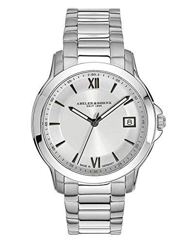 ABELER & SÖHNE Made in Germany orologio da donna con cinturino in acciaio inox, vetro zaffiro e data AS3004