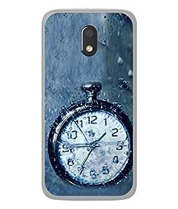 PrintVisa Designer Back Case Cover for Motorola Moto E3 :: Motorola Moto E (3rd Gen) (Vintage Pocket Watch In Water )
