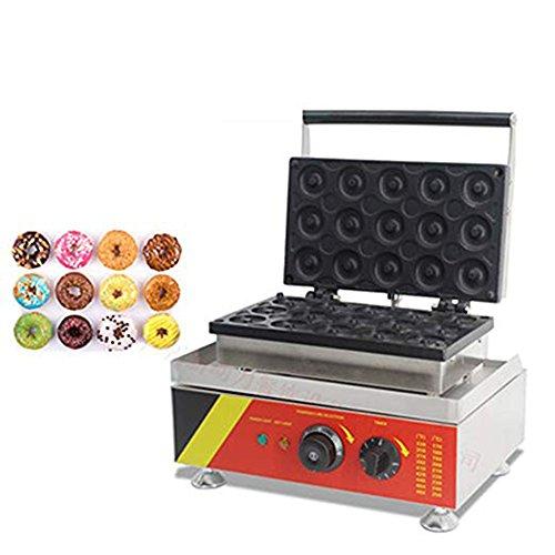 ZGUO 15 Piezas Eléctrico Donut Maker Donut Cocina Waffle Sartén de Hierro Waffle Hacer Máquina Antiadherente Certificación CE 110v y 220v