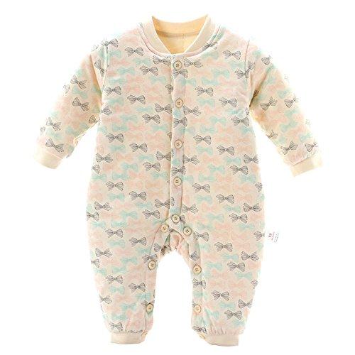 Baby Overalls Strampler Mit Warm Spielanzug Säugling Neugeborene Lange Ärmel Outwear Baumwolle Kriechende Winter Jumpsuit Ein Stück ZYS , A , 80cm (Spieler Flanell)