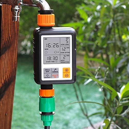 Zeitschaltuhren garten Bewässerungsuhr Zeitmesser Garten Bewässerung Zeitschaltuhr mit LCD-Anzeige Wasser Timer Bewässerungssteuerung Automatisch Landwirtschaftliche Blumen Pflanzen Wasser System