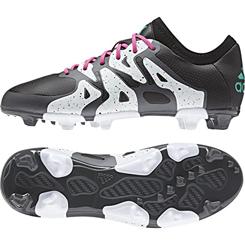 adidas X 15.1 Fg/Ag, Scarpe da Calcio Unisex – Bambini Multicolore (Varios colores (Negro / Rosa / Blanco (Negbas / Menimp / Ftwbla)))