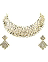 Styylo Fashion Exclusive Designer Daily Wear Party Wear Office Wear Wedding White Necklace Set For Women And Girls