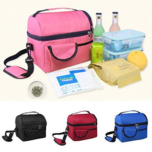 Yukio Kühltasche klein 7.5L mit Reißverschluss und Verstellbarer Schultergurt, 24x15x21cm, Kühlbox Outdoor Isoliert Tasche für Lebensmitteltransport