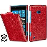 StilGut exklusive Ledertasche UltraSlim Case für Nokia Lumia 720 in Rot