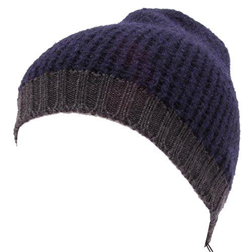 9465Q cuffia uomo ALPHA STUDIO blu/grigio berretto