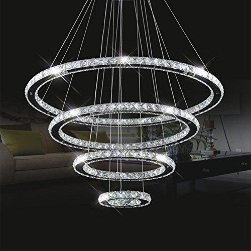 TRNMC die Beleuchtung Regentropfen Kristall Kronleuchter, LED Wave Küche der Insel der Beleuchtung der 50 X B 20 X H 80 cm / 4 Lichter Innenbeleuchtung,3 Lichter / 60 * 20 * 80cm