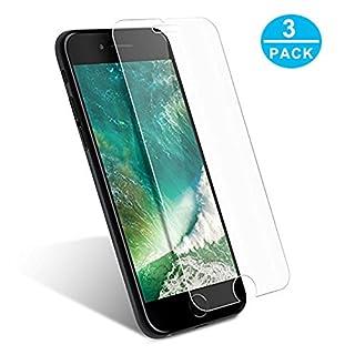 WEOFUN 3 Stück Kompatibel mit Panzerglas Schutzfolie iPhone 7 Plus / 8 Plus [0.25mm, Anti-Kratzen, Anti Fingerprint, 9H Härte]