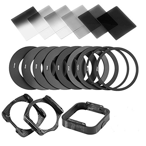 ZOMEI Gradient Neutral Density Gradual ND Filter Kit for Cokin P Series Pro Set SLR DSLR Camera Lens (Speed Ring-kit)
