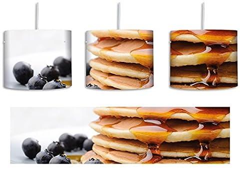 Pancakes mit Sirup und Blaubeeren inkl. Lampenfassung E27, Lampe mit
