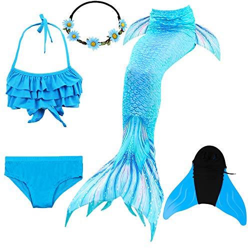 Schwimmen Größe Kostüm 20 - COZY HUT 2019 Mädchen Bikini Badeanzüge Schönere Meerjungfrauenschwanz Zum Schwimmen mit Meerjungfrau Flosse Schwimmen Kostüm Schwanzflosse