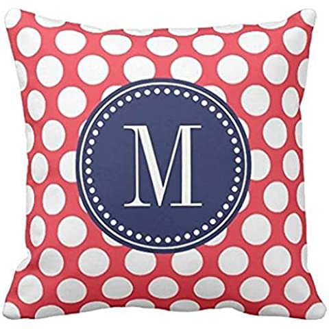 Red & Navy| Big Polka Dots Monogrammed