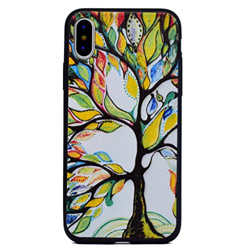 Per iPhone X Cover , YIGA Colore Dreamcatcher Piuma Silicone Morbido TPU Case Shell Caso Protezione Custodia per Apple iPhone X (5,8 pollici) F84