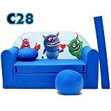 C28 Kindersofa Ausklappbar Schlafsofa Couch Sofa Minicouch 3 in 1