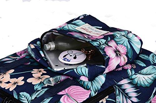 HotStyle Magnolia Zaino Zainetto Donna - con Vano PC 14 pollici (37x26x13cm) D149A, Fiori