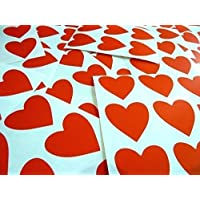 """38mm (1.5"""") Heart Shape Colour Code Stickers - Packs of 72 Large Coloured Hearts Sticky Labels for Craft, Card-Making & Decoration - 33 Colours Available"""