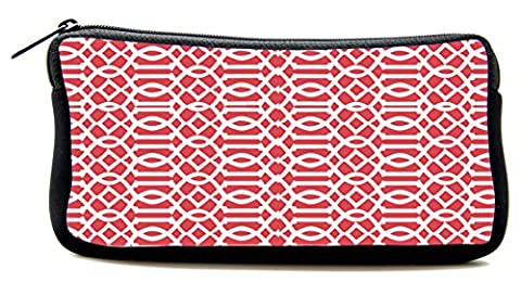 Cool Pencil Case red Imperial Trellis Cosmetic Makeup