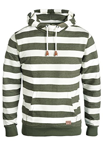 Blend Crombie Herren Kapuzenpullover Hoodie Pullover Mit Kapuze, Größe:L, Farbe:Dusty Green (70595) - Blend Hoodie