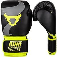 Ringhorns Charger Guantes de Boxeo, Unisex Adulto, Negro/Amarillo, 16oz