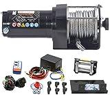 Power Series 12V Elektrische Seilwinde 3000 Eco mit Funkfernbedienung und Handschalter - Zugkraft 1360 kg (Stahlseil) / 2720 kg (mit Umlenkrolle)