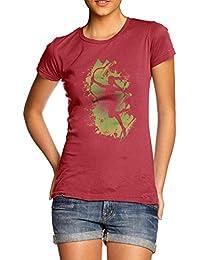 TWISTED ENVY Women's Running Archer 100% Cotton T-Shirt